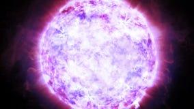 Estrella de neutrón masiva con perturbaciones atmosféricas de la escala en la superficie almacen de video