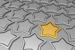 Estrella de oro única Fotografía de archivo