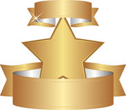 Estrella de oro Imagen de archivo libre de regalías