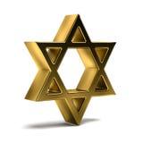 Estrella de oro de David Celebración del judaísmo ilustración de la representación 3d Fotos de archivo