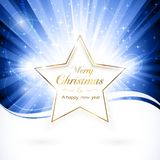 Estrella de oro de la Navidad ilustración del vector