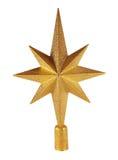 Estrella de oro de la Navidad Fotografía de archivo
