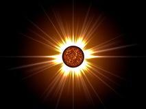Estrella de oro en espacio. Fotografía de archivo libre de regalías