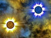 Estrella de oro en espacio. Foto de archivo libre de regalías