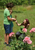 Estrella de oro para la mejor mama Foto de archivo libre de regalías