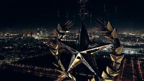 Estrella de oro soviética almacen de metraje de vídeo