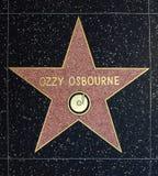 Estrella de Ozzy Osbourne Foto de archivo