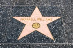 Estrella de Pharrel Williams en el paseo de la fama Hollywood foto de archivo libre de regalías