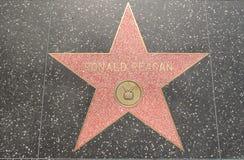 Estrella de Ronald Reagan en el bulevar Foto de archivo