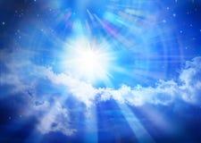 Estrella de Sun del universo del cielo del cielo Imagen de archivo libre de regalías