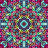 Estrella decorativa colorida abstracta de la flor de Digitaces Foto de archivo libre de regalías