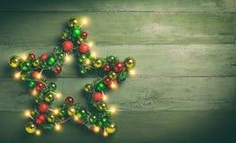 Estrella decorativa de la Navidad Fotografía de archivo