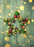 Estrella decorativa de la Navidad Fotos de archivo libres de regalías