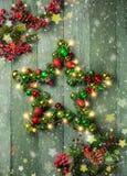 Estrella decorativa de la Navidad Imagen de archivo