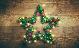 Estrella decorativa de la Navidad Fotografía de archivo libre de regalías