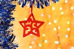 Estrella decorativa de la Navidad Foto de archivo