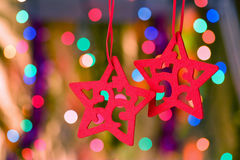 Estrella decorativa de la Navidad Imágenes de archivo libres de regalías