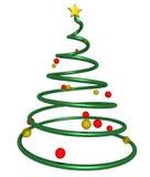 Estrella del árbol de navidad fotografía de archivo