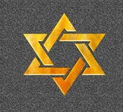 Estrella del amarillo 3D de David Gold judío Fotografía de archivo