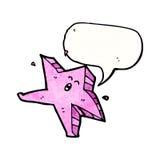estrella del baile del cartón con la burbuja del discurso Fotografía de archivo