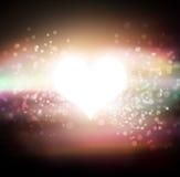 Estrella del corazón que brilla intensamente Imagenes de archivo