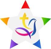 Estrella del cristianismo Imagen de archivo libre de regalías