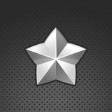 estrella del cromo del vector Imágenes de archivo libres de regalías