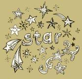 Estrella del estilo del garabato Fotos de archivo libres de regalías
