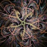 Estrella del fractal que fluye Imágenes de archivo libres de regalías