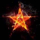 Estrella del fuego Fotografía de archivo libre de regalías