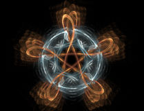 Estrella del fuego Foto de archivo libre de regalías