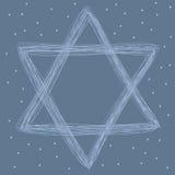 Estrella del gráfico de David Fotografía de archivo libre de regalías