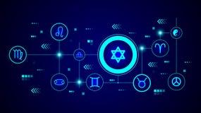 Estrella del icono de David De sistema de la web ilustración del vector