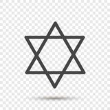 Estrella del icono del vector a partir de dos triángulos Ejemplo de un five-poin ilustración del vector