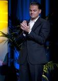 Estrella del inicio, Leo di Caprio, aplaudiendo Imagen de archivo libre de regalías