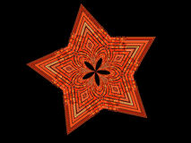 Estrella del ladrillo en fondo negro stock de ilustración