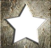 Estrella del marco metálico. Imagenes de archivo