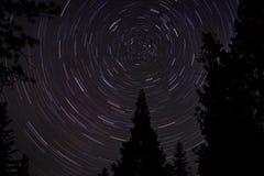 Estrella del norte - rastros de la estrella Imágenes de archivo libres de regalías