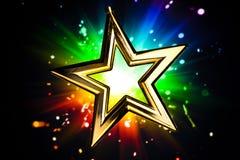 Estrella del oro Imágenes de archivo libres de regalías