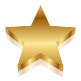 Estrella del oro Fotografía de archivo libre de regalías