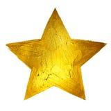Estrella del oro Ejemplo dibujado mano brillante de la mancha de la pintura Imagenes de archivo