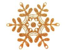 Estrella del oro en blanco Foto de archivo libre de regalías