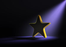 Estrella del oro en el proyector Imagen de archivo