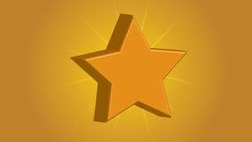 Estrella del oro - vector - ejemplo - Fotos de archivo