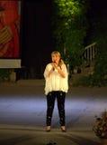 Estrella del pop búlgaro Margarita Hranova Imágenes de archivo libres de regalías