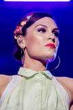 Estrella del pop británico Jessie J Imagen de archivo libre de regalías