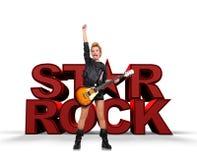 Estrella del rock Imagen de archivo libre de regalías