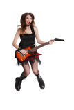 Estrella del rock adolescente Imagenes de archivo