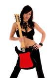 Estrella del rock atractiva Imagen de archivo libre de regalías