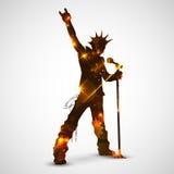 Estrella del rock cantante Imagenes de archivo